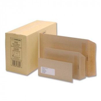 New Guardian Envelopes Lightweight Pocket Gummed 80gsm Manilla 98x67mm [Pack of 2000]