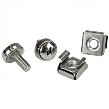 StarTech.com Rack Screws - 20 Pack - Installation Tool - 12 mm M5 Screws - M5 Nuts - Cabinet Mounting Screws and Cage Nuts