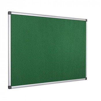 Bi-Office Notice Board Maya, Green Felt, Aluminium Frame, 120 x 90 cm