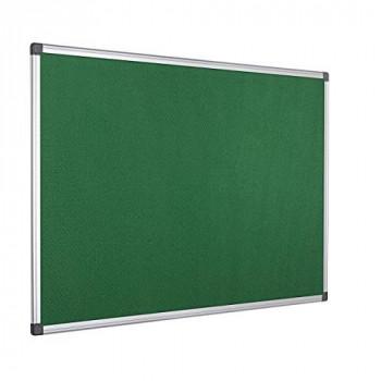 Bi-Office Notice Board Maya, Green Felt, Aluminium Frame, 90 x 60 cm