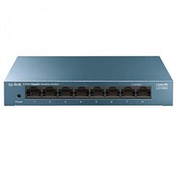 TP-Link LS108G 8-Port Desktop/Wallmount Gigabit Ethernet Switch, Steel Case