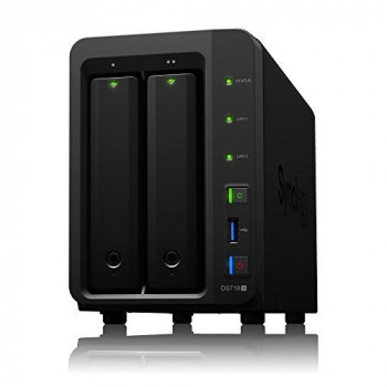 Synology DS718+ 8 TB (2 x 4 TB) 2 Bay Desktop Network Attached Storage Unit