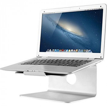 NewStar NSLS050 Raised and Rotatable Brushed Aluminium Stand for Laptop/Macbook - Silver