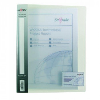 Snopake 2 Ring 15mm A4 Original Ring Binder Pack of 10 Pieces - Clear