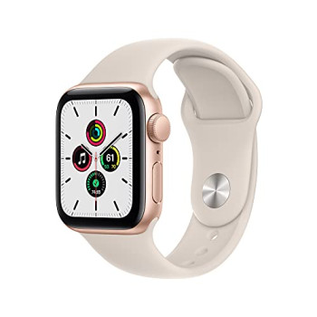 2021 Apple Watch SE (GPS, 40mm) - Gold Aluminium Case with Starlight Sport Band - Regular