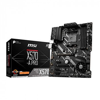 MSI X570-A PRO AMD Socket AM4 ATX DDR4 HDMI Double M.2 USB C 3.2 Gen2 Motherboard