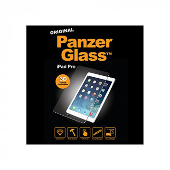 PanzerGlass Protective Anti Scratch Fluid Resistant Glass Screen Protector Shield for iPad Pro - Clear