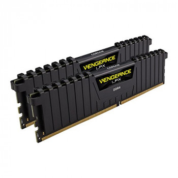 Corsair CMK32GX4M2B3200C16 Vengeance LPX 32 GB (2 x 16 GB) DDR4 3200 MHz C16 XMP 2.0 High Performance Desktop Memory Kit - Black