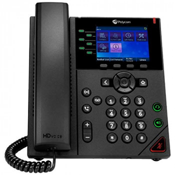 POLYCOM VVX 350 6-Line Desktop Business IP Phone With Dual 10/100/1000 Ethernet Ports PoE Only Ships Without Power Supply