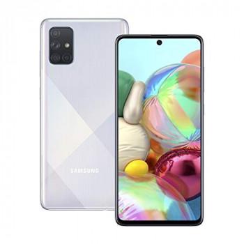 Samsung Galaxy A71 Mobile Phone; Sim Free Smartphone - Prism Crush Silver (UK version)