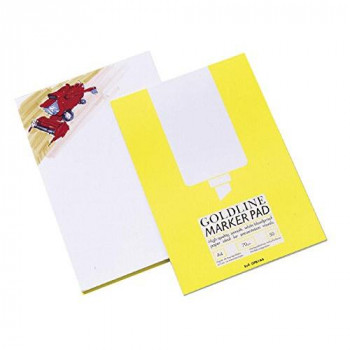 Goldline Marker Pad Bleedproof 70gsm 50 Pages A4 White Ref GPB1A4Z
