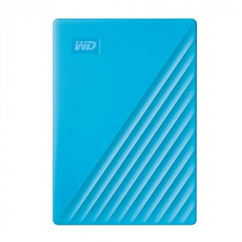 WD 4TB My Passport Portable Hard Drive with Password Protection and Auto Backup Software - Blue