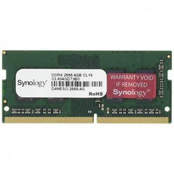 Synology - DDR4-4 GB - SO-DIMM 260-pin - 2666 MHz / PC4-21300 - 1.2 V - unbuffered - non-ECC - for Deep Learning NVR DVA3219