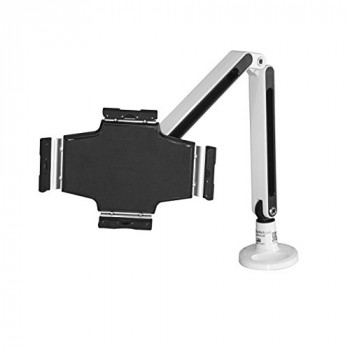 "StarTech.com Desk Mount Tablet Arm - Steel - for 9"" to 11"" Tablets - White - Clamp - Lockable Tablet Mount - Tablet Holder"
