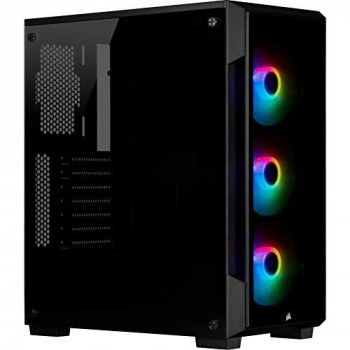 Corsair iCUE 220T RGB, Tempered Glass Mid-Tower ATX Smart Gaming Case, Black