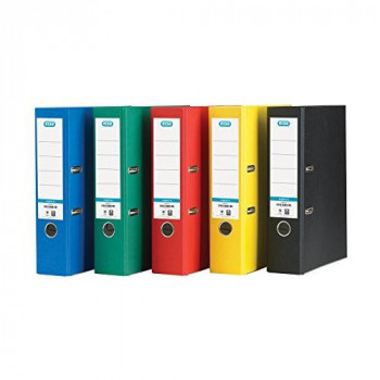 Elba Lever Arch File A4 Coloured Paper Over Board 80mm Spine Assorted Ref B1045720 [Pack 10]