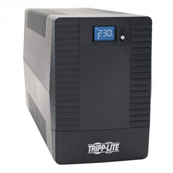 Tripp Lite 850VA 480W Line-Interactive Tower UPS Battery Backup with 6 C13 Outlets, AVR, LCD Display, USB Port (OMNIVSX850)