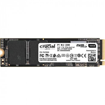 Crucial P1 CT1000P1SSD8 1 TB Solid State Drive (3D NAND, NVMe, PCIe, M.2)