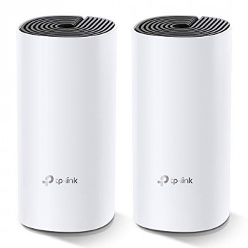 TP-Link Deco M4 Whole Home Mesh Wi-Fi System, Seamless and Speedy Up To 2800 Sq ft coverage, Work with Amazon Echo/Alexa, Router and Wi-Fi Booster Replacement, Parent Control, Pack of 2