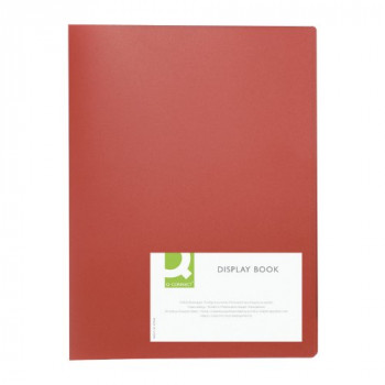 Q Connect 20-Pocket Display Book - Red