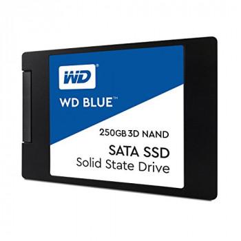 Western Digital WDS250G2B0A WD Blue 250 GB 3D NAND SATA Internal Solid State Drive - Black