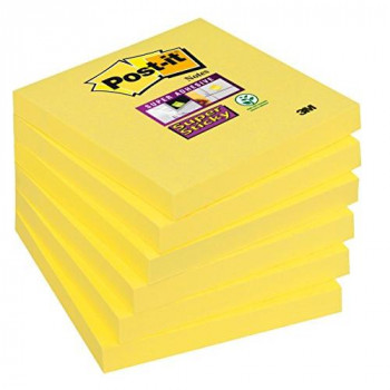 Post-it 654Super Sticky Notes 76x 76mm, 6Pads, 90Sheets Narcissus Yellow