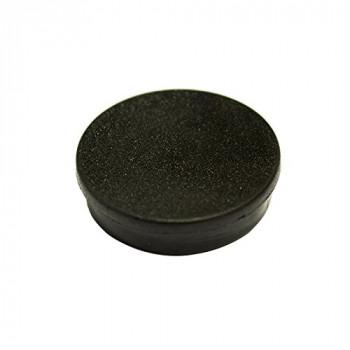 Bi-Silque IM132609 30 mm Round Magnet - Black (Pack of 10)