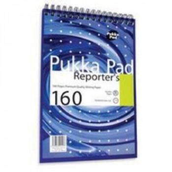 pukka pads NM001 - Pukka Reporters Shothand Pad Wirebound 160P 205x140mm NM001 - (PK3)