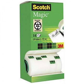 Scotch Magic Tape - Tower Dispenser Value Pack - 14 Rolls - 19 mm x 33 m