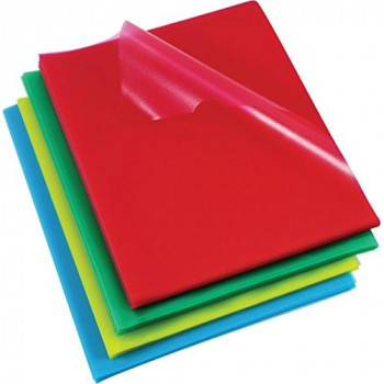 Rexel Cut Flush Folders A4 Assorted Colours (100 Pack)
