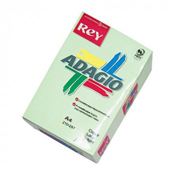 Rey Adagio 336053 A4 Paper 500 Sheets for Laser/Inkjet Printers and Photocopiers 80 g Green (Pack of  5)