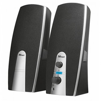 Trust Mila 2.0 USB Speaker Set for PC, Laptop - Black