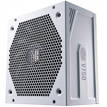 Cooler Master V750 Gold V2 PSU, UK Plug - 750 W, 80 PLUS Gold, Fully Modular, ATX Power Supply Unit, Quiet 135 mm FDB Fan, Semi-Fanless Mode, 10-Year Warranty, 16AWG PCI-e Cables - White Edition