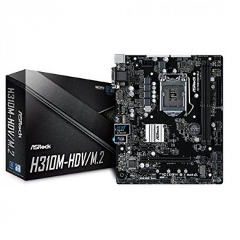 ASRock H310M-HDV/M.2 - mATX Motherboard for Intel Socket 1151 CPUs
