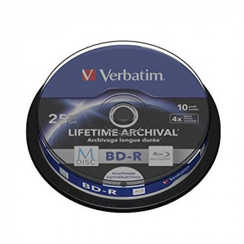 Verbatim (43825) M-DISC BD-R 4x 10-pack Blu-Ray Optical Media
