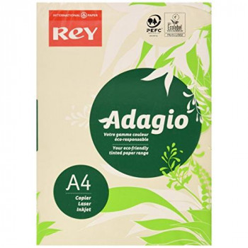 Adagio 201.1204 A4 160 gsm Rey Paper - Ivory (Pack of 250 Sheets)