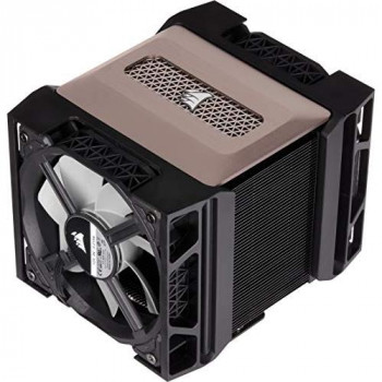 Corsair A500, High Performance Dual Fan CPU Cooler (Cools up to 250W TDP, Intuitive Slide-and-Lock Fan Mount, Two Corsair ML120 Fans, Easy to Install, Pre-Applied Thermal Material) Black