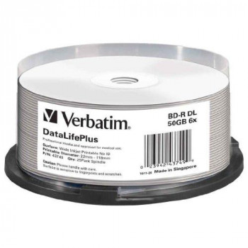 Verbatim (43749) : BD-R DL 6x 25-pack : Blu-Ray Optical Media