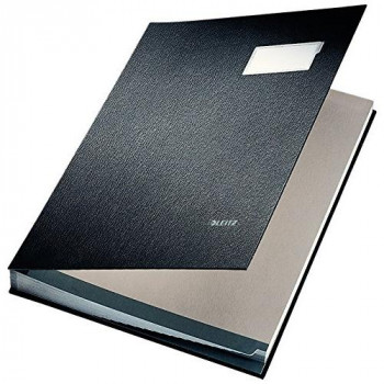 Leitz 57000195 Expandable Signature Book with 20 Card Dividers, A4, Black, 57000095