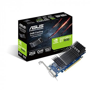 ASUS NVIDIA Geforce GT1030-SL-2G-BRK GDDR5 64 Bit Memory PCI Express Graphics Card - Black