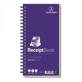Challenge Duplicate Receipt Book Wirebound 4 Sets per Page 200 Receipts 280x152mm Ref M71990