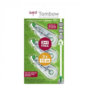 Tombow – CA4/Correction Roller Rolling 4 – 2 mm x 10 m Economy Pack of 3 Hole in The Middle