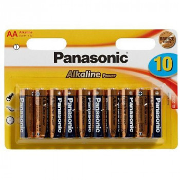 Panasonic 2379 LR06 AA Mignon Alkaline Power Battery(Set of 10)