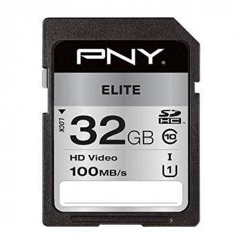 PNY Elite SDHC card 32GB Class 10 UHS-I U1 100MB/s