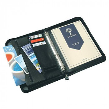 Collins Debden Ltd Ringbinder Folio with Zipper - Black