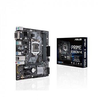 Asus PRIME B360M-K Intel B360 1151 Micro ATX DDR4 VGA DVI M.2 USB 3.1 Gen2