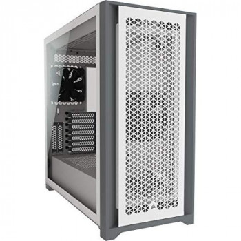 Corsair 5000D Airflow Tempered Glass Mid-Tower ATX Case (High-Airflow Front Panel, Corsair RapidRoute Cable Management System, Two Included 120mm Fans, Motherboard Tray with Fan Mounts) White