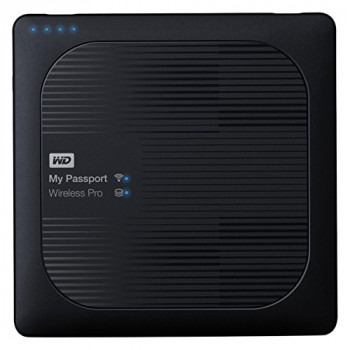 WD 2TB  My Passport Wireless Pro Portable External Hard Drive - AC WIFI USB 3.0 - WDBSMT0030BBK-EESN