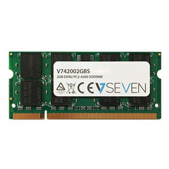 V7 V742002GBS Notebook DDR2 SO-DIMM Memory Module 2GB (533MHZ, CL5, PC2-4200, 200 polig, 1.8 Volt)