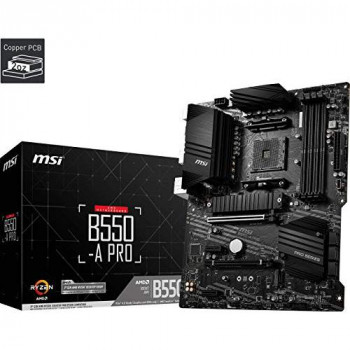 MSI B550-A PRO Motherboard ATX, AM4, DDR4, M.2, LAN, USB 3.2 Gen2, Front Type-C, HDMI, DisplayPort, AMD RYZEN 3000 3rd Generation